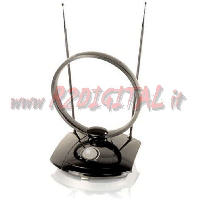 ANTENNA TV DVB-T UHF 38 dB per DIGITALE TERRESTRE AMPLIFICATA